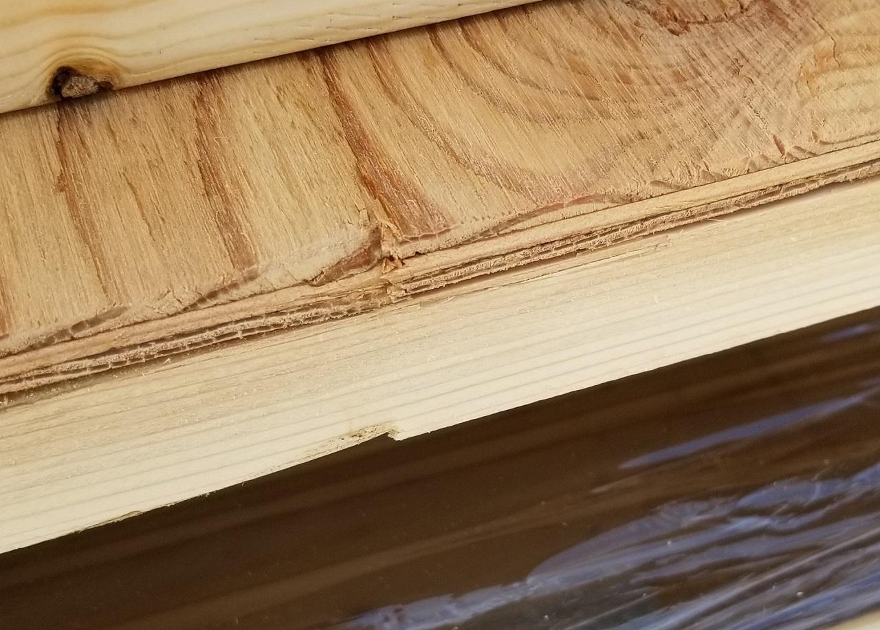 衝撃に弱い木材は運送時に破損することがよくあります。