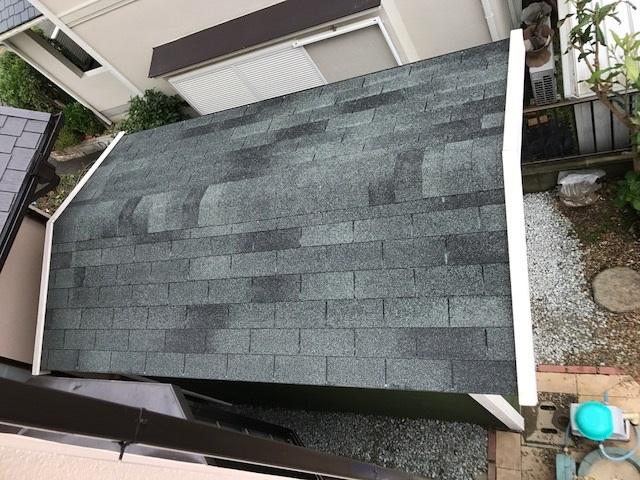 アスファルトシングルの屋根勾配は、3.5寸以上とされてます。