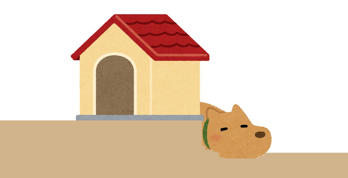 失敗例としては、小屋の下に穴を掘ってそこに入って暑さをしのいでいるペット犬を見たことがあります。
